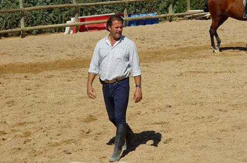 Antonio Andújar, profesor de la Escuela Hípica Riopudio. Espartinas, Sevilla.